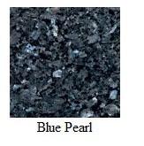 "Blue Pearl Granite 12""x12"" Tile - Three Sides Bullnosed"