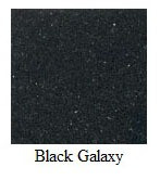 "Galaxy Black Granite 12""x12"" Tile - Three Sides Bullnosed"