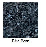 "Blue Pearl Granite 12""x12"" Tile - One Side Bullnosed"