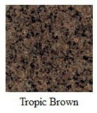 Custom Tropical Brown Granite Bullnose (Pick Your Size - If Size Option Not Available, Submit Custom Size In Special Instructions upon Item Checkout)