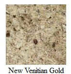 "CUT TO SIZE (PRE-CUT) New Venetian Gold Granite - Pick your size from 5"" to 6"""