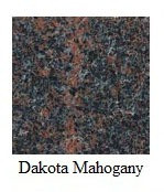 "Dakota Mahogany Granite 12""x12"" Tile - One Side Bullnosed"