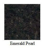 "Emerald Pearl Granite 12""x12"" Tile - One Side Bullnosed"