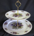 2 Tier Pansy Cakestand