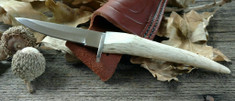 Silver Stag - Small Gamer Point - Deer or Elk Stag Handles - D2 Tool Steel