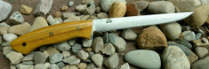 Landi Knives - Fisher Fillet - Osage Orange Wood Handles