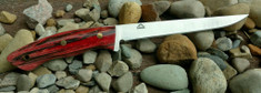 Landi Knives - Fisher Fillet - Stabilized Red Birch Wood Handles