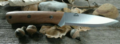 Landi Knives - Bushcraft / LT Wright Scandi Grind  - Nice Walnut Wood Handles