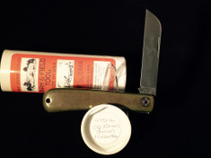 Great Eastern - #47 Hayn' Helper - Farm and Field - Single Sheepsfoot Blade - OD Green Linen Micarta