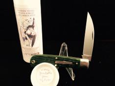 Tidioute - #47 Viper - Green Bottle Glass Jigged Bone