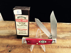 Schatt & Morgan Cutlery - #40 Gunstock - Smooth Red Bone - B