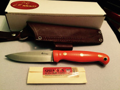 LT Wright Handcrafted Knives  - GNS  -  Saber Grind - Orange G10 W/Gray Liners