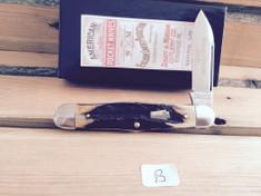 Schatt & Morgan Cutlery - #376 Center Swell - Stag - B - Single Spear Blade