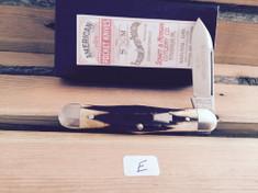 Schatt & Morgan Cutlery - #376 Center Swell - Stag - E - Single Spear Blade