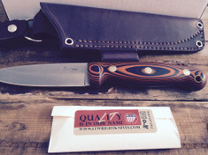 LT Wright Handcrafted Knives  - GNS  -  Saber Grind - Orange and Black G10