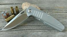 Brous Blades - Insight - 3D Milled Titanium Handles - Satin Finish