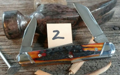 Tuna Valley Cutlery Co. - Carpenter's Whittler  -  Amber Stag Handles - 2