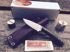 L.T. Wright Handcrafted Knives - Small Workhorse - Carbon Fiber w/Coyote Brown Liners - Flat Grind