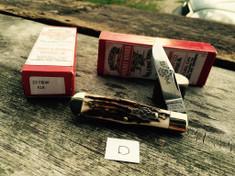 Schatt & Morgan Cutlery - #22 Medium Coke Bottle  - (Clip) - American Elk -D