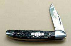 Schatt and Morgan Cutlery  - #41 Small Pocket Hunter (Copperhead) - Brown Rodgers Jig Bone