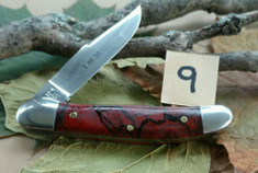 Schatt and Morgan Cutlery  - #41 Small Pocket Hunter (Copperhead) - Burnt Orange Spalted Maple Wood - (9)