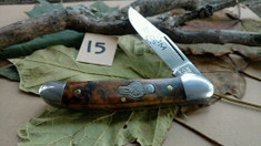 Schatt and Morgan Cutlery  - #41 Small Pocket Hunter (Copperhead) - Golden Spalted Maple Wood - (15)