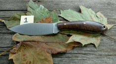 L.T. Wright Handcrafted Knives - Small Northern Hunter - NICE Maple Wood Handles  (1) - Flat Grind