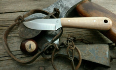 LT Wright Handcrafted Knives  -  Frontier Trapper  - Nice Maple Wood Handles (1)- AEB-L Stainless Steel - NEW