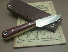 LT Wright Handcrafted Knives  -  Frontier Trapper  - Double Red Micarta w/Snakeskin Liners - AEB-L Stainless Steel - NEW