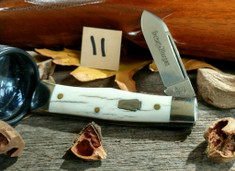 Schatt & Morgan Cutlery - JSR EXCLUSIVE - Gunstock - Single Spear Blade - Smooth American Elk (11)