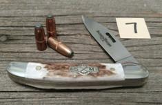 Schatt and Morgan Cutlery - JSR EXCLUSIVE - Frontier Copperhead - American Elk Handles (7) - Special Laser Cut Blade