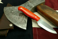 LT Wright  Handcrafted Knives - Patriot - Orange G10 - Scandi Grind - AEB-L Stainless Steel - NEW