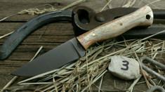 Battle Horse Knives - Custom Classic Stallion - Fantastic Giraffe Bone with Black Liners (3)