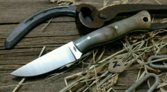 Battle Horse Knives - Custom Classic Stallion - Fantastic Rams Horn with Black Liners (2)