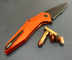 Brous Blades - Tyrant  - Orange Aluminum Handles - Blackout Blade Finish - NEW Release