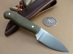 LT Wright  Handcrafted Knives - Patriot -  Matte Green Micarta  - Flat Grind - 01 Tool Steel - NEW