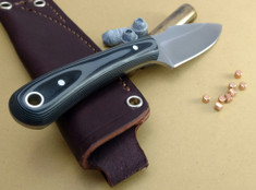 L.T. Wright Handcrafted Knives - Great Plainsman -  Saber Grind - Gray/Black G10