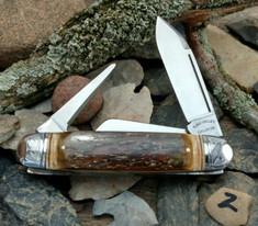 Tuna Valley Cutlery Co. - Cattleman  -  Fluted Mammoth Bark Ivory Handles - 2