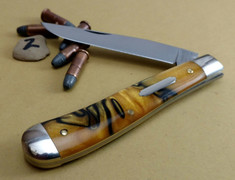 GEC - Tidioute - Weasel - Single Blade -  Tiger Eye Acrylic - 2