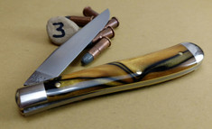 GEC - Tidioute - Weasel - Single Blade -  Tiger Eye Acrylic - 3