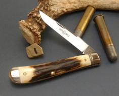 GEC - Northfield - Weasel - Single Blade -  Sambar Stag - 1