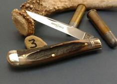 GEC - Northfield - Weasel - Single Blade -  Sambar Stag - 3