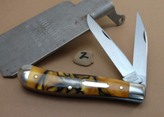 GEC - Tidioute - Weasel - Two Blade -  Tiger Eye Acrylic - 2