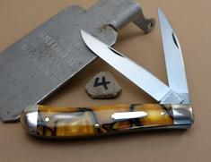 GEC - Tidioute - Weasel - Two Blade -  Tiger Eye Acrylic - 4