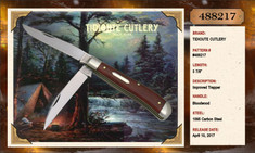 GEC - Tidioute - Weasel - Two Blade -  Blood Wood - (Improved Trapper)