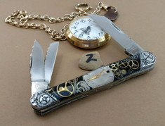 Tuna Valley Cutlery Co. - Timekeeper Series - Carpenters Whittler - Tuna Valley Time Keeper/ Finney Knives Collaboration -2