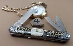 Tuna Valley Cutlery Co. - Timekeeper Series - Carpenters Whittler -Tuna Valley Time Keeper/ Finney Knives Collaboration -4