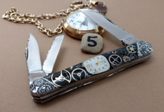 Tuna Valley Cutlery Co. - Timekeeper Series - Carpenters Whittler -Tuna Valley Time Keeper/ Finney Knives Collaboration -5