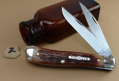 GEC - Tidioute - Weasel - Two Blade -  Antique Amber Jig Bone (2) - (Improved Trapper)