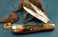 GEC - Northfield - Weasel - Two Blade -  Sambar Stag (2) - (Improved Trapper)